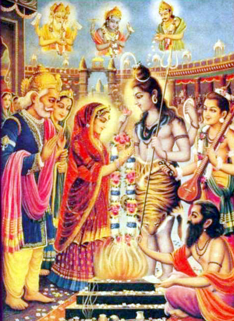 images of shiv parvati marriage